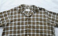 Vintage 1950's PENNEYS TOWNCRAFT Plaid Cotton Blend Loop Collar Shirt L Large