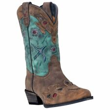 Dan Post DPC2151 Kid's Blue Vintage Bluebird Western Boots - New With Box