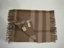 AUTHENTIC BURBERRY BEIGE HAPPY TONAL CHECK WOOL CASHMERE SCARF CHRISTMAS GIFT