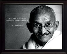 """Mahatma Gandhi Photo Picture, Poster or Framed Quote """"An Eye for an Eye"""""""