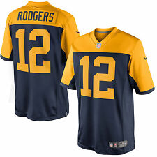 Green Bay Packers Aaron Rodgers Nike Men's Navy Blue Limited Alternate Jersey