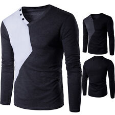 Fashion Men Soft Casual Blouse Stylish Slim Fit Long Sleeve Casual Shirts Top H