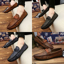 New Mens Loafers Slip On Moccasin Driving  Summer Soft Casual pu Leather Shoes