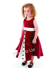 Girls Gorgeous Wine & Cream Rosebud Dress Wedding Flowergirl Party (6mths-8yrs)