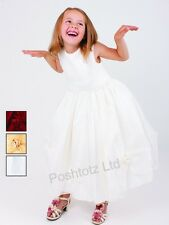 Girls Fabulous Cream Occasion Dress Wedding Christening (2-3yrs-9-10yrs)