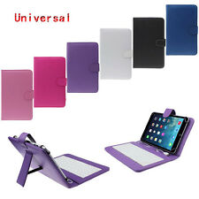 "Mini 7"" Universal Leather Case Cover With Micro USB Keyboard For Tablet PC 2017"