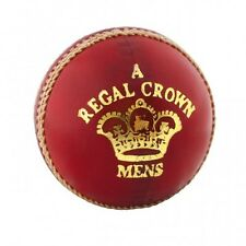 Readers Regal Crown 'A' Tanned Leather Corky Cricket Ball Red