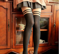 Sexy Womens Girl Temptation Sheer Mock Suspender Tights Pantyhose High Stockings