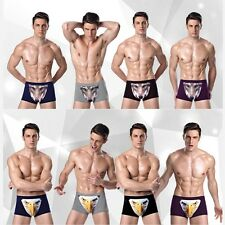 Sexy Mens 3D Wolf Print Trunks Underwear Boxers Briefs Shorts Modal Underpants