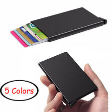 ID Credit Card Holder Protector Purse Box RFID Blocking Aluminum Slim Wallet