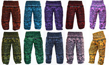 HAREM PANTS YOGA MEN WOMEN ELEPHANT PRINT INDIAN BAGGY GYPSY TROUSERS AG7