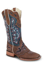 New Womens Blue Cowgirl Western Leather Rodeo Boots REDHAWK 5200 Size 5-10 (B,M)