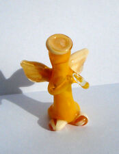 "1.8"" Small Art Glass, Murano, Glass Sculpture, Blown Glass Figurine ""Angel"""
