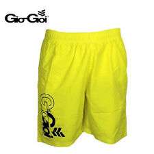 GIO GOI MENS BONDI YELLOW LOGO BEACH SWIM SWIMMING SURF BOARD SHORTS RRP £29.99