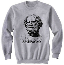 ARCHIMEDES - NEW COTTON GREY SWEATSHIRT- ALL SIZES IN STOCK