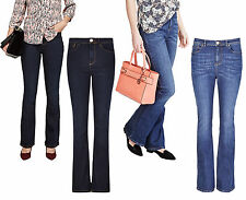 Marks & Spencer Womens Kick Flare Jeans New M&S Roma Mid Rise Stretch Blue Denim