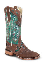 Womens Green Cowgirl Western Leather Rodeo Boots REDHAWK 5200 Size 5-10 (B, M)