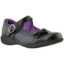 Girls Dress Shoes Mary Jane Bow Accent Closed Toe Shoes Black