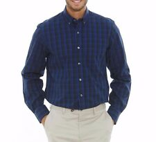 Savile Row Men's Blue Navy Check Classic Fit Casual Shirt