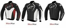 New Alpinestars Jaws Black/White/Red Leather Motorcycle Jacket (Thermal Liner)