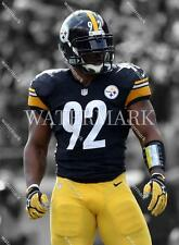 RY128 James Harrison Pittsburgh Steelers Game Face 8X10 11x14 Spotlight Photo