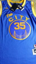 Brand New NBA Golden State Warriors Kevin Durant Adidas Blue The City Jersey NWT