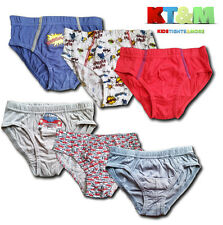 New Boys Kids Children 3PACK Cotton Briefs Underwear Underpants Age 1.5 -7 Years