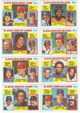1984 Topps Active League Leaders Subset Single Cards #701-718 AL 84 Sub Set LL