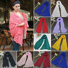 New Womens Plain Cotton Shawl Scarf Wrap Cape Headscarf Casual Neck Wrap Scarves