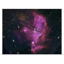 Poster Print Wall Art entitled NGC 346 Open Cluster and Nebula Complex in the