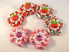 X2 HANDMADE girls baby HAIR CLIPS BOWS SLIDES GRIPS BOBBLES HAIR BANDS PONYTAILS