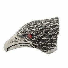 Vintage Rock Eagle Head Staainless Steel Ring Steampunk Jewelry Unique Band Mens