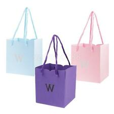 50pcs W Letter Paper Gifts Candy Bags Party Carry Bags Wedding Party Favors