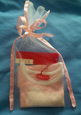 Baby Girl's Elle Pink / White Designer T-Shirt / Top & Gift Bag BNWT RRP £18.99