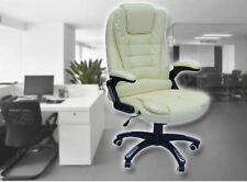 Leather Executive Reclining Office Chair Tilt for home and office use