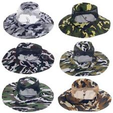 Mens Outdoor Summer Sun Hat Travel Fishing Cap Jungle Camo Bucket Hat Boonie Cap