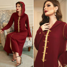 Muslim Kaftan Abaya Jilbab Islamic Women Long Sleeve Cocktail Maxi Vintage Dress
