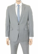 Kenneth Cole Reaction Slim Fit Gray Tonal Pinstriped Two Button Suit