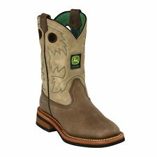 New John Deere JD2311 Kid's Tan Johnny Popper Wellington Boots