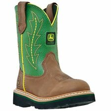 New John Deere JD2186 Kid's Green Johnny Popper Wellington Boots