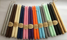 2 Velour Tapered Candles 30cm