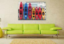 Stunning Poster Wall Art Decor Kayak Canoeing Rowing Boat Rowing 36x24 Inches