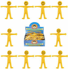 Fun Stretchy Men Smiley Party Bag Filler Loot Kids Mini Stretch Man Toy UK Stock