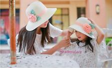 HOT Sun Hat Parenting Mother And Daughter Girls Summer Flowers Beach Straw Hat