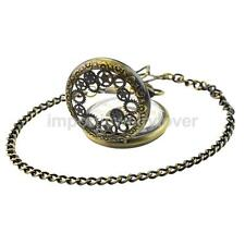 Vintage Steampunk Mens Mechanical Open Face Retro Pendant Pocket Watch Chain