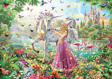 Unicorn Princess Fantasy Kids Bedroom Wall Art Large Poster Print A0 A1 A2 A3 A4