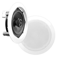 """PYLE 5 1/4"""", 6 1/2"""", or 8"""" In-CEILING SPEAKERS, Choose White, Black, or Silver"""