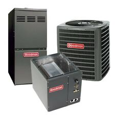 4 Ton 14 SEER 80% AFUE Single Stage Gas Furnace & Air Conditioner System, Upflow