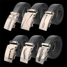 Classical Automatic Belt Buckle Genuine Leather Belts Mens Waist Strap YK