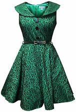 Whispering Ivy Bonded Animal Lace Flared 1950s Retro Vintage Party Prom Dress UK